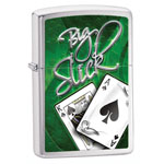 Зажигалка Zippo Big Slick Brushed Chrome 28281